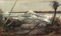 rapids above niagara falls by william morris hunt