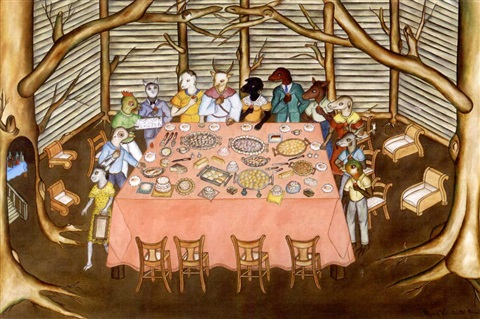 untitled allegorical banquet by rigaud benoit