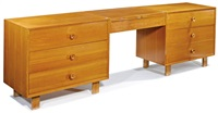chest with vanity and stool (2) (model nos. 4600 and 4661) by george nelson