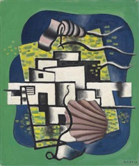 composition avec coquille by fernand léger