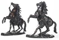 les chevaux de marly (pair) by guillaume coustou the elder