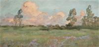paysage de campagne by eugène labitte