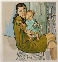 mother and child (nancy and olivia) by alice neel