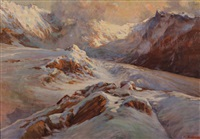 glacier et sommets en haute montagne by licinio barzanti