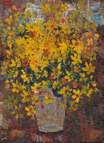 bouquet of daisies by zurab tsereteli