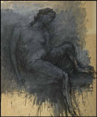 reclining woman by john graham coughtry