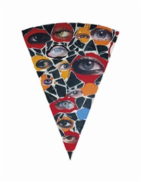 pizza slice by jim lambie