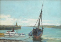 st. ives harbour by john mallord bromley