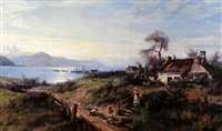 the conway estuary from deganwy by william gilbert foster
