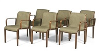 armchairs (model 1305u) (set of 6) by bill stephens
