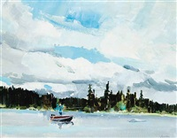 fly fishing, pennask lake by jack hambleton