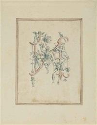 grotesque alphabet (album w/ 24 works) by johann theodor de bry