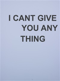 untitled (i can't give you anything) by adam mcewen