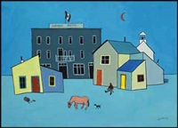 the pink horse by ted harrison