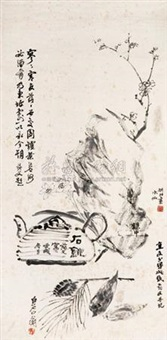 清心图 (flowers and birds) by yao hua, jin cheng, xiao qianzhong and qi baishi