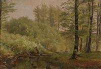 skogslandskap by carl frederik peder aagaard