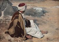 seated bedouin by eugen felix prosper bracht