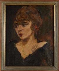 portrait der rösli weidmann mit elfenbeincollier by vladimir zabotin