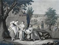 la galanterie villageoise by jean-pierre-marie jazet
