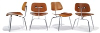 dining chairs (4) (model dcm) by charles and ray eames