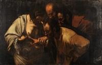 la incredulidad de santo tomás by michelangelo merisi da caravaggio