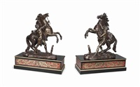 models of the marly horses (pair) by guillaume coustou the elder