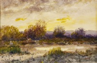 sunset by charles partridge adams