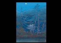 moon night (ryuanji)(+ cherry blossoms in omuro; 2 works) by akira muto