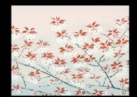 mountain cherry blossoms (+ 2 others, various sizes; 3 works) by akira muto