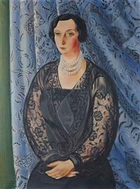 portrait de mme e. rouvier by moïse kisling