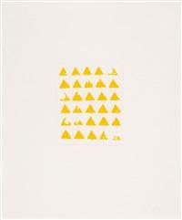 ohne titel (30 dreiecke) by wolfgang laib