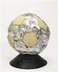 untitled (soccer ball) by mark bradford