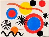 blue, white & red target by alexander calder