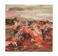 red painting 1 by cecily brown