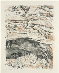 mummy cave ruins at canyon de chelly by philip pearlstein