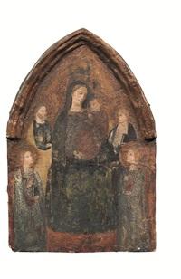 madonna in trono tra santi e angeli by anonymous (15)