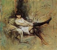 figura femminile by lino selvatico