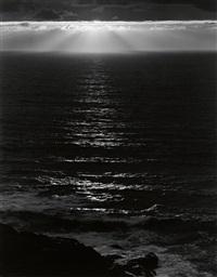 sundown, the pacific by ansel adams