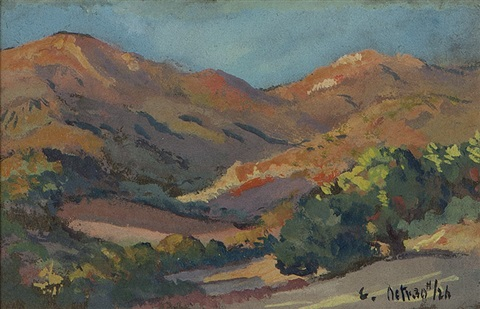 santa barbara foothills by colin campbell cooper
