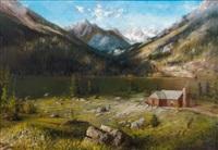 lake in the alps by karl heffner