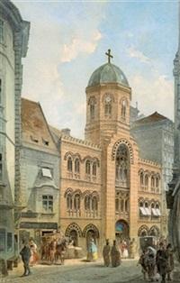 die griechische kirche am fleischmarkt by johann wilhelm frey