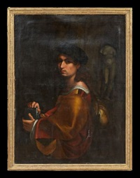 portrait of an artist by pontormo (jacopo carucci)