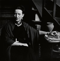 simone de beauvoir by elliott erwitt