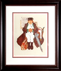 muggleton's stagecoach by norman rockwell