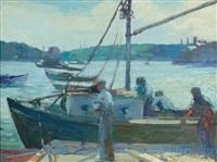 preparing to sail by louis frederick berneker