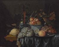 früchtestillleben mit keramikschale und gläsern by jan pauwel gillemans the elder