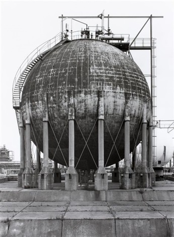 spherical gas tank wesserling near cologne germany by bernd and hilla becher