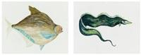 watery ecstatic (2 works) by ellen gallagher