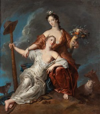 onfale y pomona by gerard hoet the elder