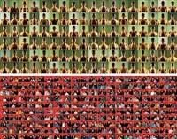 气血图像 标准家庭 (figure of gas and blood standard famly)(2 works) by wang jinsong